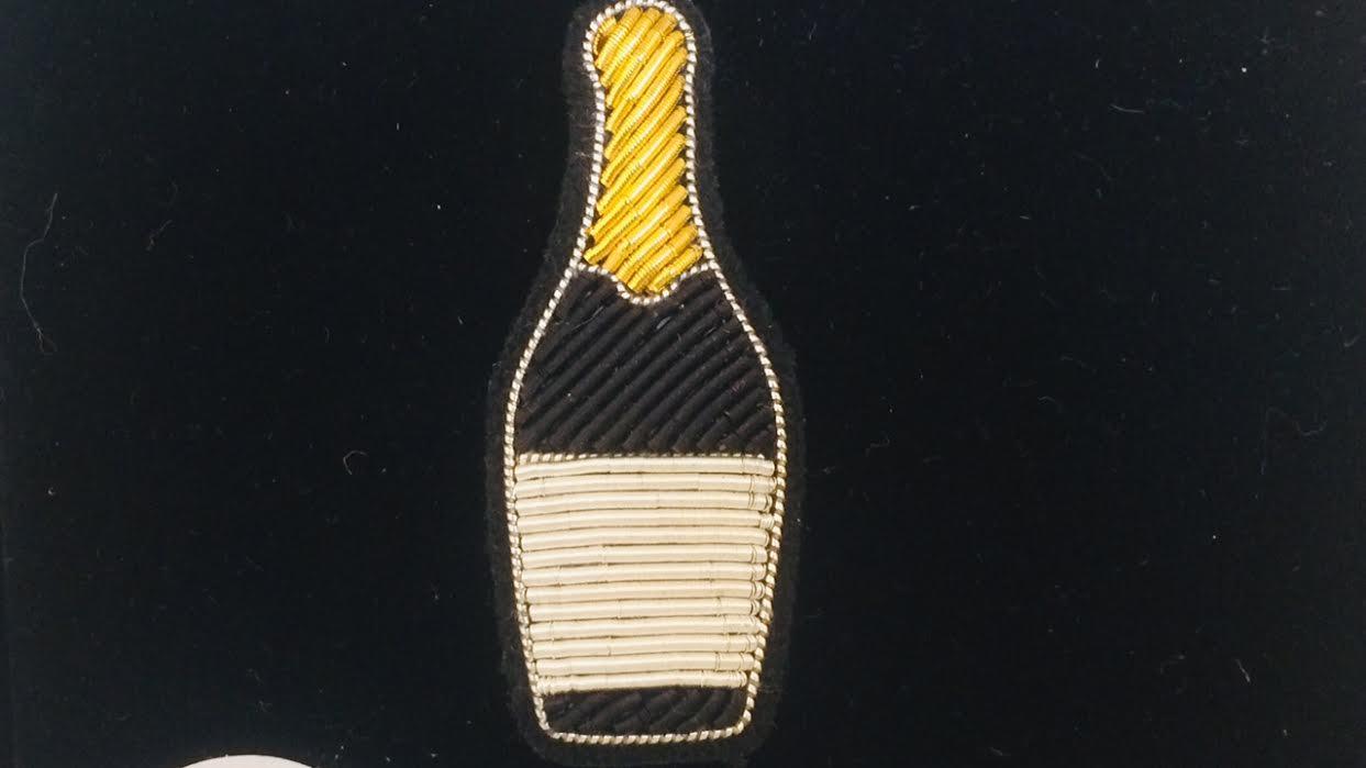 Broche Maco&Lesquoy Champagne chez bee art&design à Saint-Malo