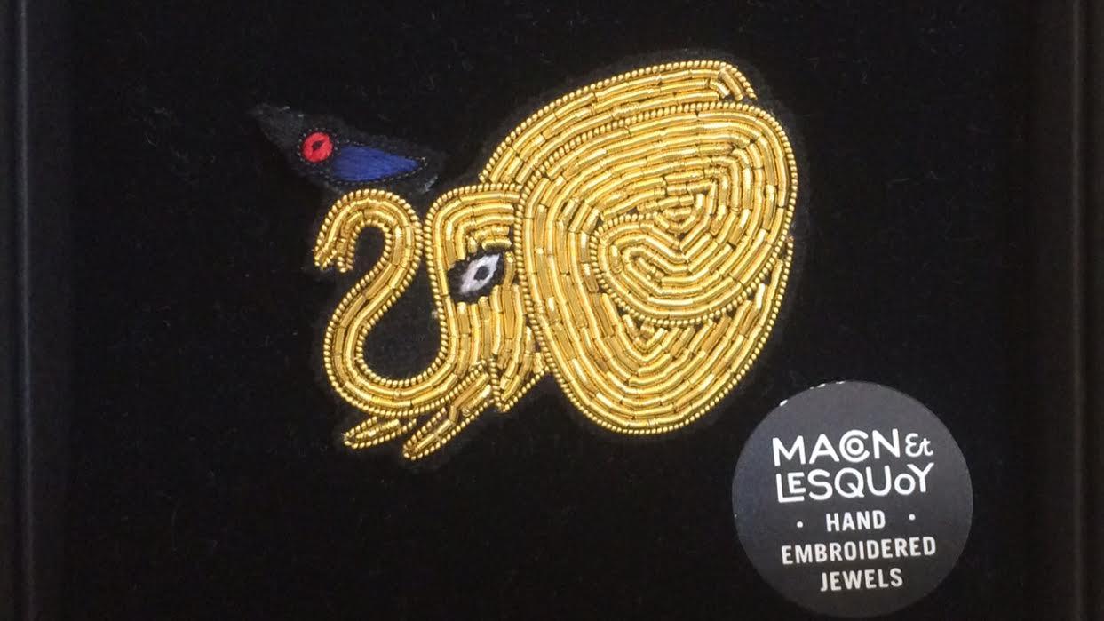 Broche Maco&Lesquoy Eléphant chez bee art&design à Saint-Malo