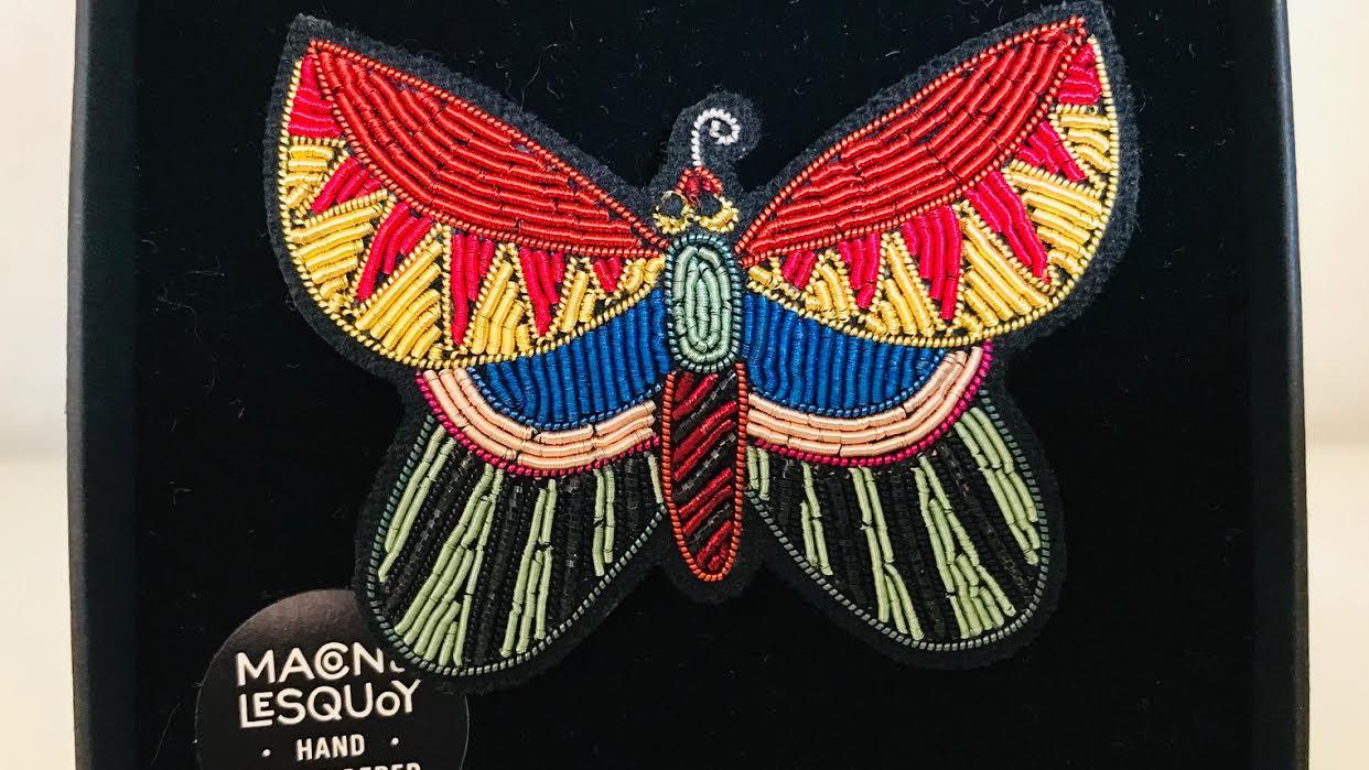 Broche Macon&Lesquoy Papillon chez Bee art&design à Saint-Malo