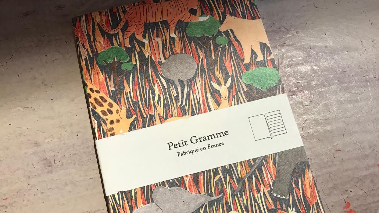 Carnet PETIT GRAMME animaux savane chez bee art&design à Saint-Malo