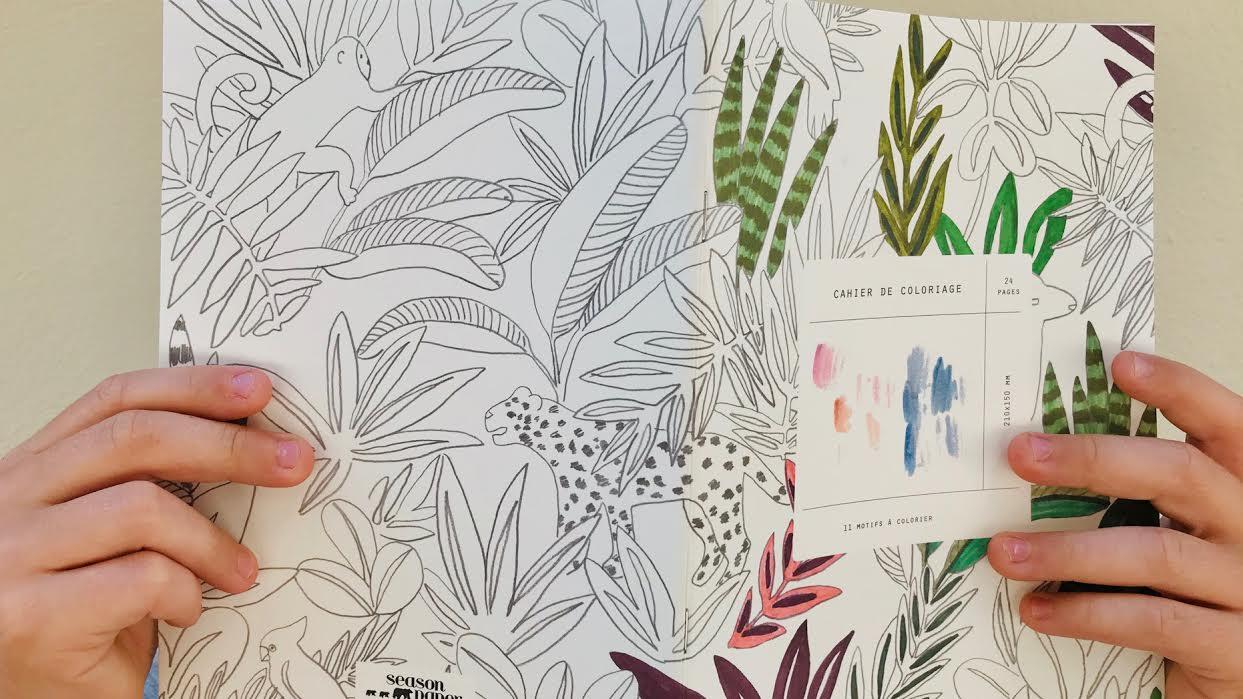 Carnet SEASON PAPER Cahier de coloriage chez bee art&design à Saint-Malo