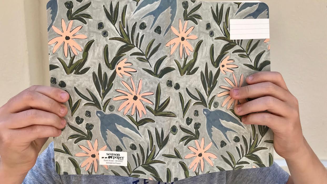 Carnet SEASON PAPER Envol brume chez bee art&design à Saint-Malo