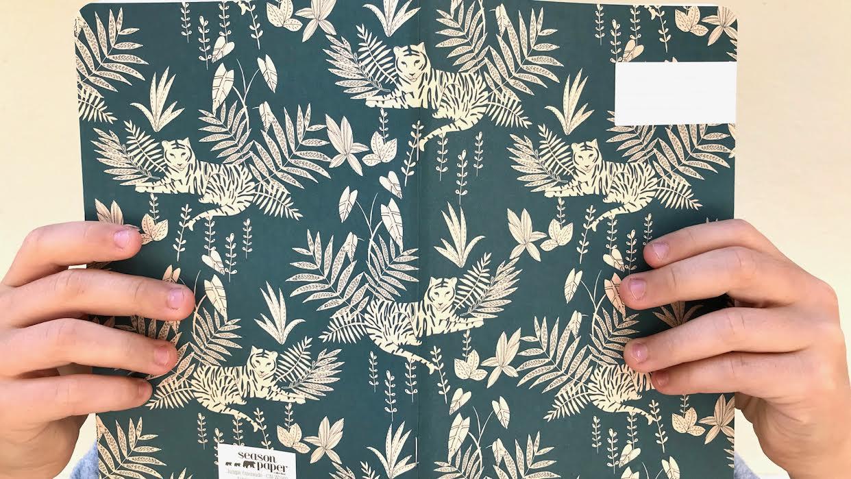 Carnet SEASON PAPER Jungle émeraude chez bee art&design à Saint-Malo