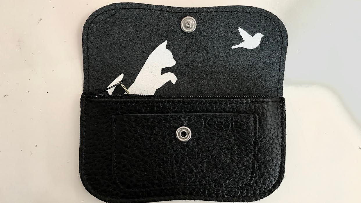 Portefeuille Keecie Amsterdam cuir noir chez Bee art&design à Saint-Malo