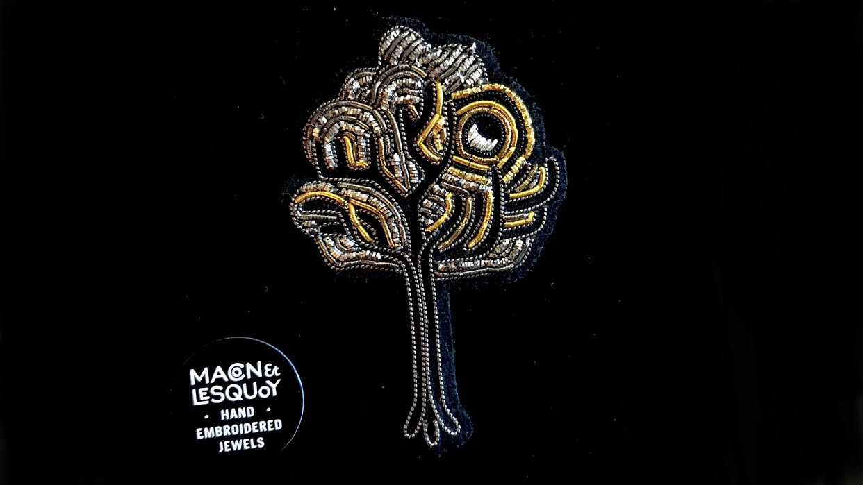Broche Macon&Lesquoy arbre nocturne chez Bee art&design