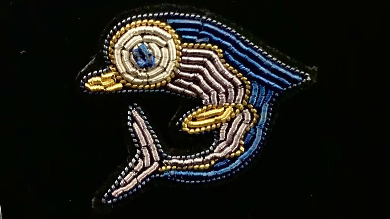 Broche Macon&Lesquoy dauphin chez Bee art&design