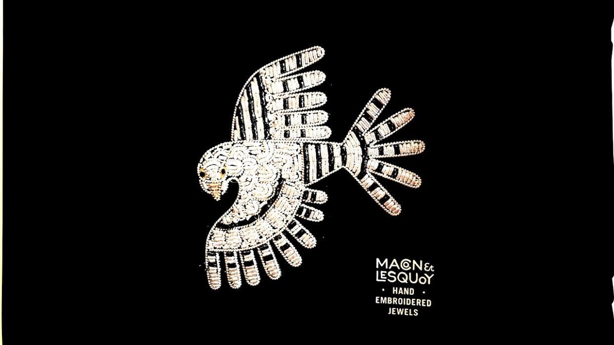 Broche Macon&Lesquoy faucon chez bee art&design