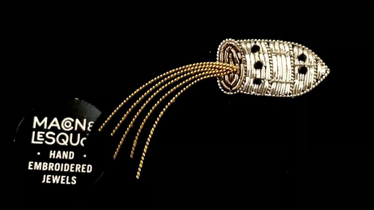 Broche Macon&Lesquoy fusée méliès chez Bee art&design