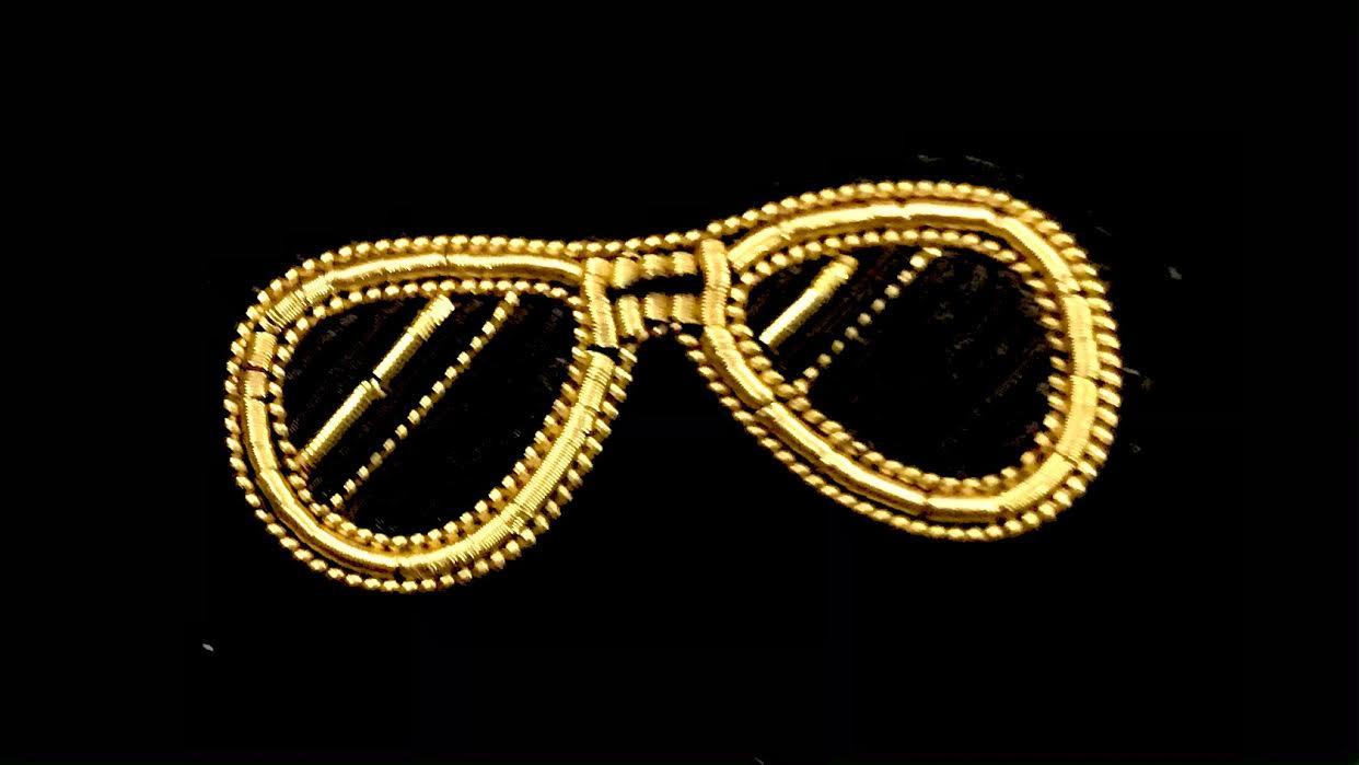Broche Macon&Lesquoy lunette de soleil de dictateur chez Bee art&design