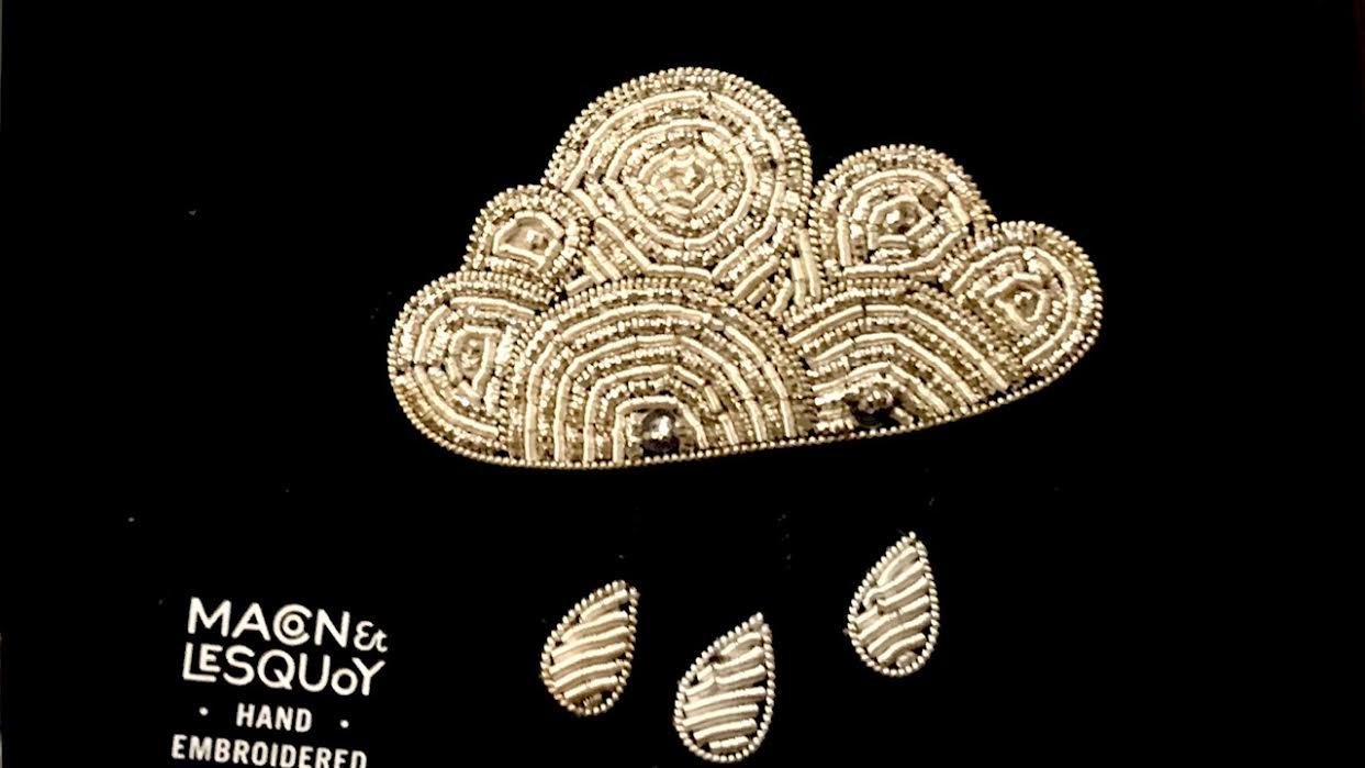 Broche Macon&Lesquoy nuage pluie chez Bee art&design