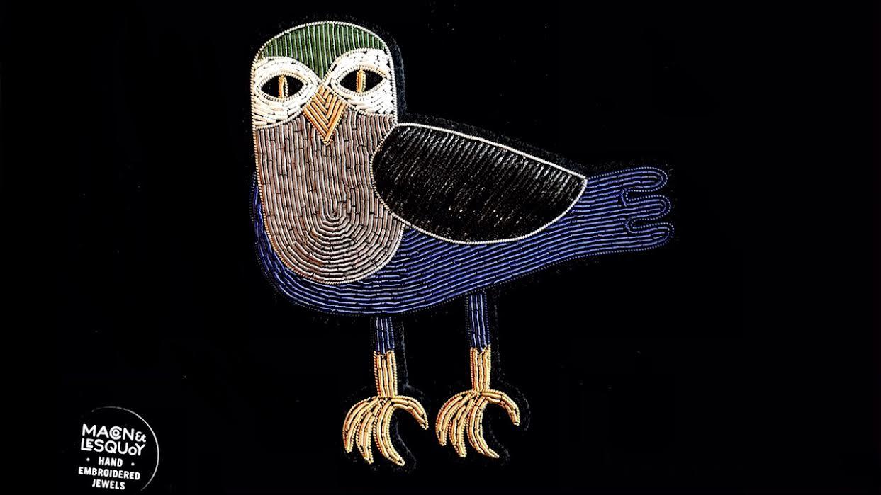 Broche Macon&Lesquoy oiseau nocturne chez Bee art&design