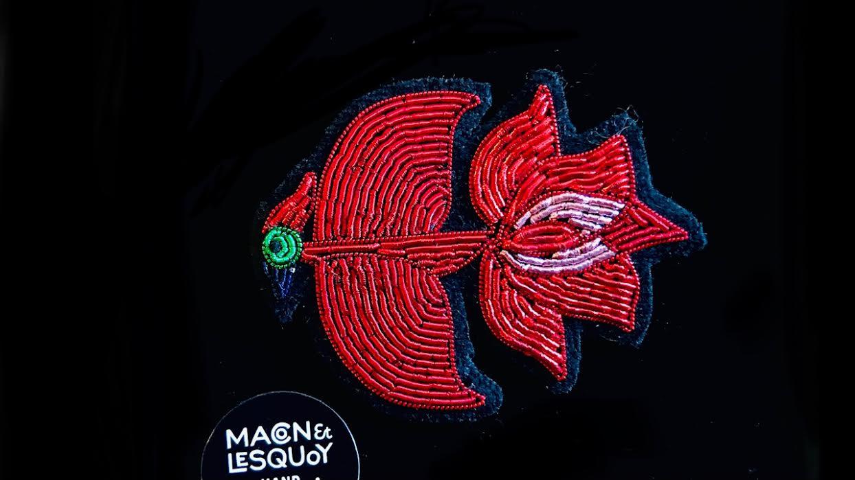 Broche Macon&Lesquoy phoenix solaire chez Bee art&design