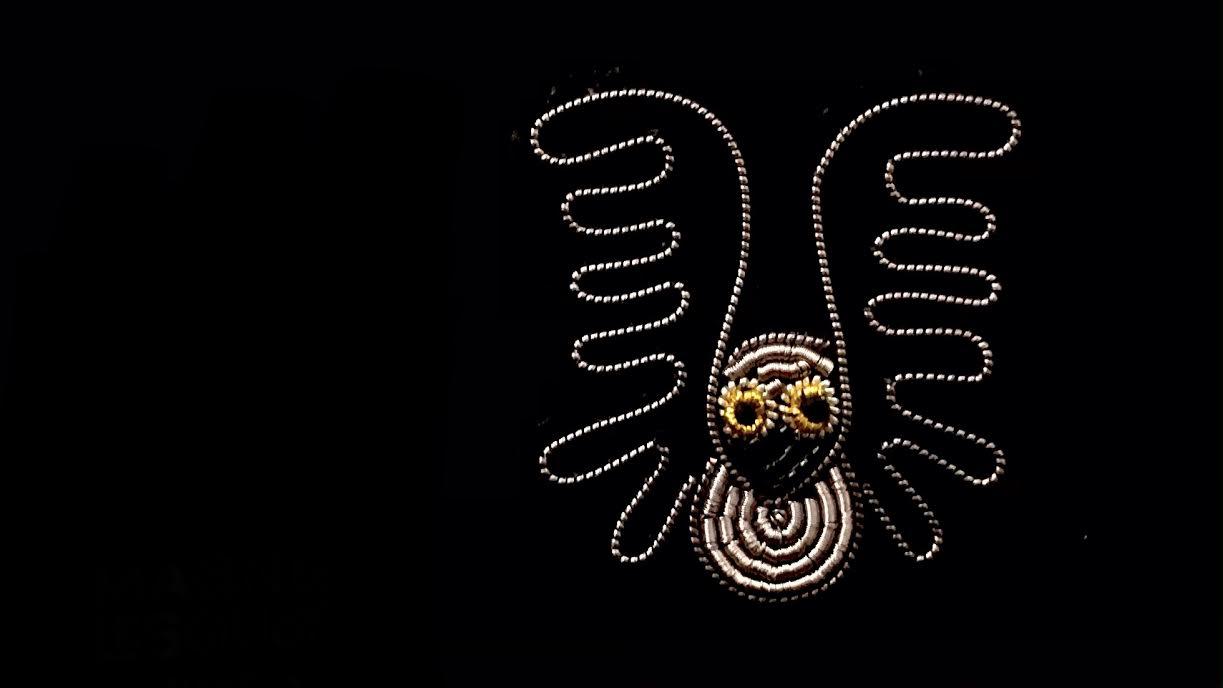 Broche Macon&Lesquoy piou piou nocturne chez Bee art&design