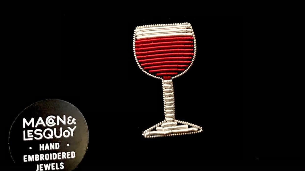 Broche Macon&Lesquoy verre de vin chez Bee art&design