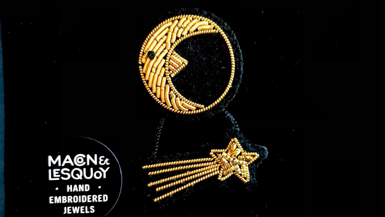 Broche macon&Lesquoy lune + étoile filante chez Bee art&design