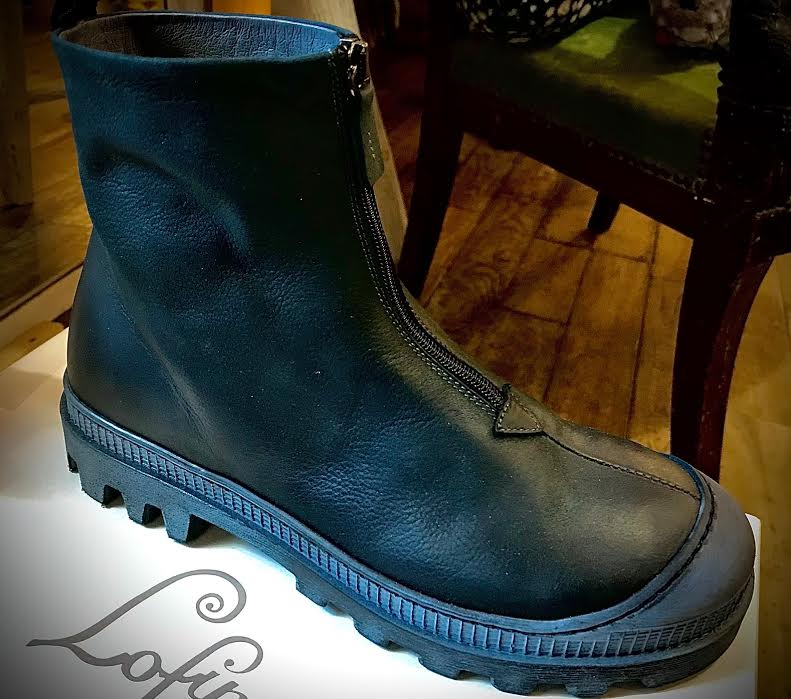 Chaussure bottine Pump vert bleu foncé chez bee art&design à Saint Malo