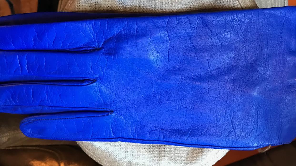 Gant femme Acaba Soie ou cashmere bleu vif chez Bee