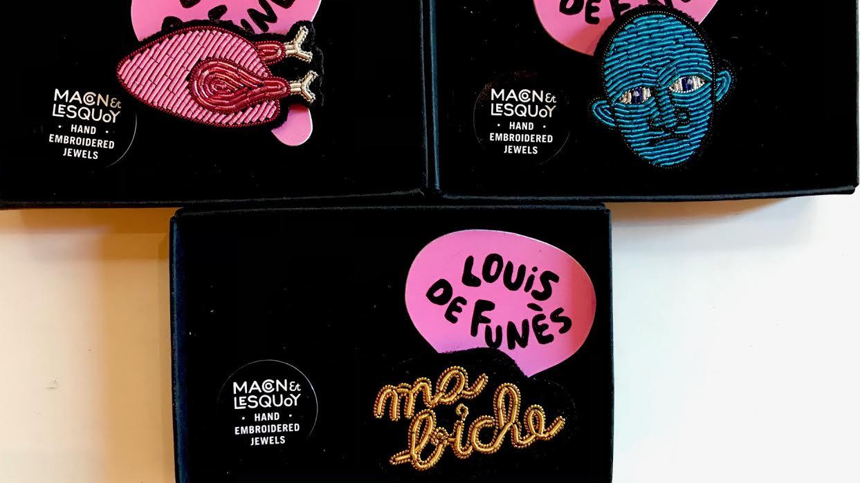 broche Macon&Lesquoy Exposition Louis de Funès poulet rose fantomas ma biche chez Bee art&design
